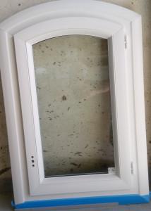 Fenêtre 1 vantail PVC cintre surbaissé