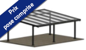 Carport pan Alu - Autoporté double