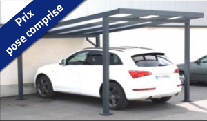Carport pan Alu - Autoporté simple