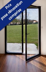 Porte-fenêtre 2 vantaux ALU