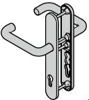 Ferrure ES 0, béquille / béquille, avec réservation pour cylindre profilé, 8 mm