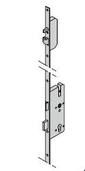 Serrure automatique avec pêne à crochet, 8 mm pour cylindre profilée