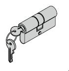 Cylindre profilé pour ferrures ES 0 45,5 + 45,5 mm