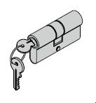 Cylindre profilé pour ferrures ES 1, protégé contre le perçage et l'arrachement, avec carte de sécurité 35,5 + 31,5 mm (ouverture vers l'intérieur)