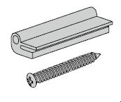 Sachet d'accessoires pour profilé d'élargissement 50 mm