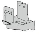 Support de seuil noir pour huisserie en aluminium à profilé A1