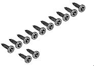(12 pièces) vis à tôle à tête bombée 6,3 × 16 T30, Torx Liko