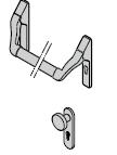 Barre antipanique, selon la norme DIN EN 1125, exécution aluminium