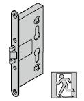 Serrure antipanique pour barre selon la norme DIN EN 1125, avec réservation pour cylindre profilé, tr 9 mm