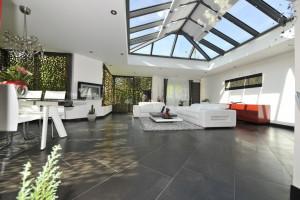 Store ANTI-CHALEUR de veranda toiture à chevrons tubulaires - OASI