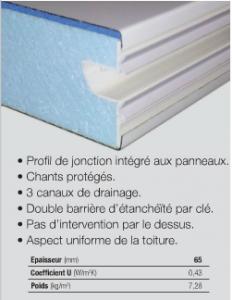 Panneau ISOTOIT PREMIUM - 2500x1200x65mm - Blanc/Blanc