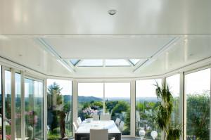 Store ANTI-CHALEUR de veranda toiture plate - ZENIT