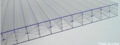 Polycarbonate alvéolaire en X (Titan Sky) - 16mm