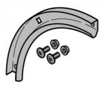 Hormann Rail de guidage courbé 90°