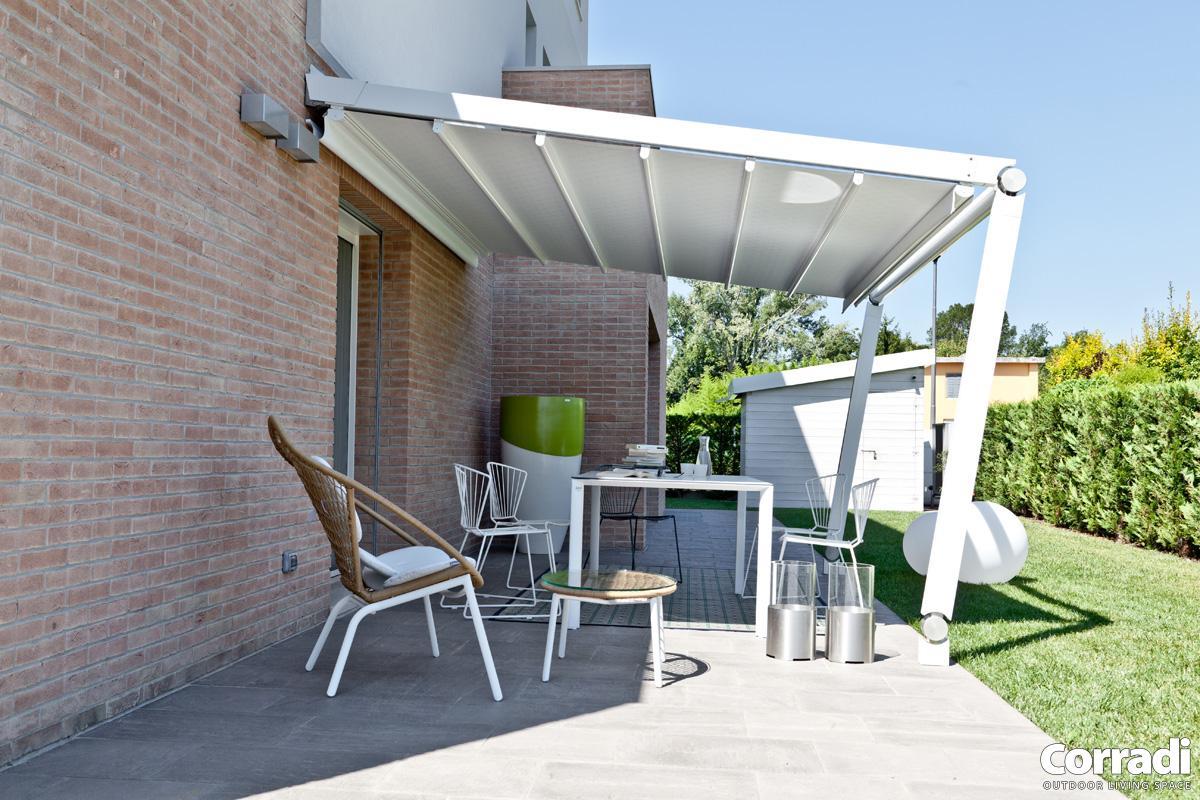 pergola toile r tractable move bezin. Black Bedroom Furniture Sets. Home Design Ideas