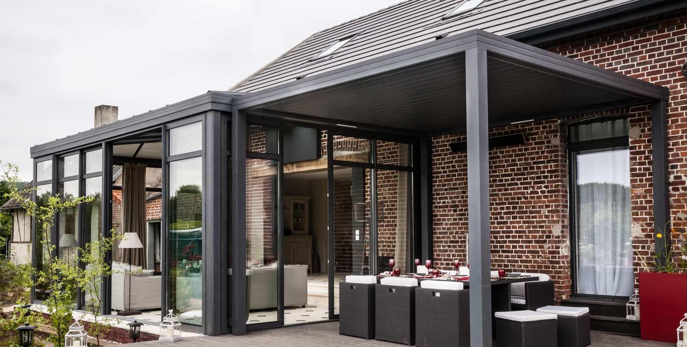 pergola bioclimatique wallis outdoor bezin. Black Bedroom Furniture Sets. Home Design Ideas