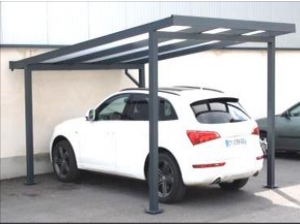 Carport autoportant polycarbonate 1 pan