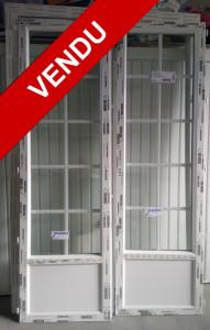 Porte-fenêtre PVC 2 vantaux avec soubassement
