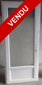 Porte-fenêtre PVC 1 vantail avec soubassement