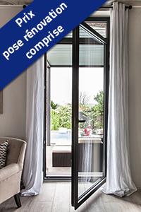 Porte Fenêtre 1 Ventail En Aluminium Au Meilleur Prix Bezin