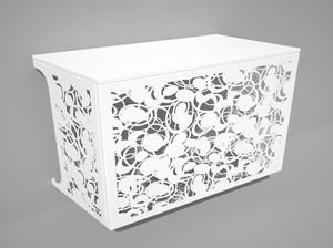 Cache climatisation & pompe à chaleur - Champagne coloris Blanc