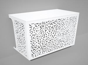 Cache climatisation & pompe à chaleur - Corail coloris Blanc