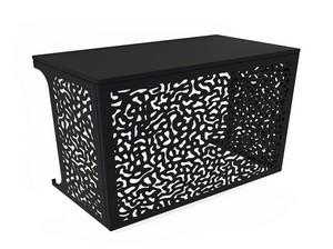 Cache climatisation & pompe à chaleur - Corail coloris Noir