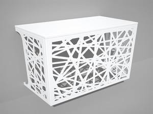 Cache climatisation & pompe à chaleur - Mikado coloris Blanc