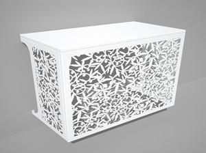 Cache climatisation & pompe à chaleur - Oliviers coloris Blanc