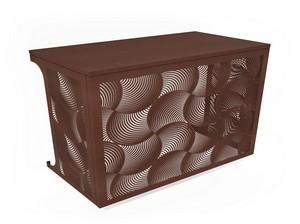 Cache climatisation & pompe à chaleur - Ondes coloris Effet rouille