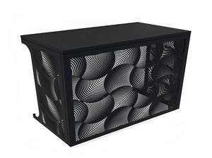 Cache climatisation & pompe à chaleur - Ondes coloris Noir