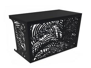 Cache climatisation & pompe à chaleur - Palmiers coloris Noir