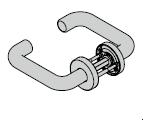 Béquille / béquille, avec rosette ronde, 8 mm
