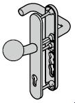 Ferrure ES 0, bouton / béquille, avec réservation pour cylindre profilé, 8 mm