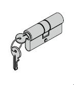 Cylindre profilé pour barre avec rosette ovale 35,5 + 27,5 mm
