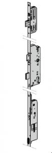 Serrure automatique avec moteur électrique, 8 mm pour cylindre profilée