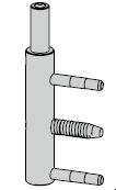 Paumelle mâle à rouleaux 180 mm pour Thermo46
