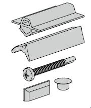 Sachet d'accessoires pour partie latérale / imposte vitrée pour THP