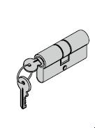 Cylindre profilé pour ferrures ES 0 40 + 30 mm