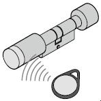 Cylindre à bouton électromécanique, 42,5 + 42,5 mm