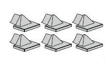 Emetteur HSE 4 BS à surface structurée noire, neutre