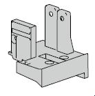 Support de seuil noir pour huisserie en aluminium à profilé A2