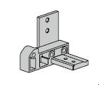 Support de seuil noir pour huisserie en aluminium à profilés A3 et A4
