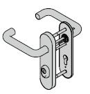 Béquillage de sécurité ES 1, avec plaque courte, 8 mm, avec réservation pour cylindre profilé
