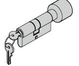 Cylindre à bouton 35,5 (bouton) + 27,5 mm