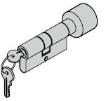 Cylindre à bouton 35,5 + 27,5 mm (bouton)