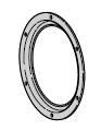Cadre de hublot Ø 300 mm (chaque porte nécessite 2 pièces !)