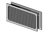 Grille d'aération 295 × 120 mm (jusqu'à dimension jour de 749 mm)