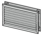 Grille d'aération 230 × 130 mm complète, Aluminium