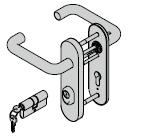 Paquet d'accessoires KSI (béquillage avec plaque courte, 8 mm + cylindre profilé)